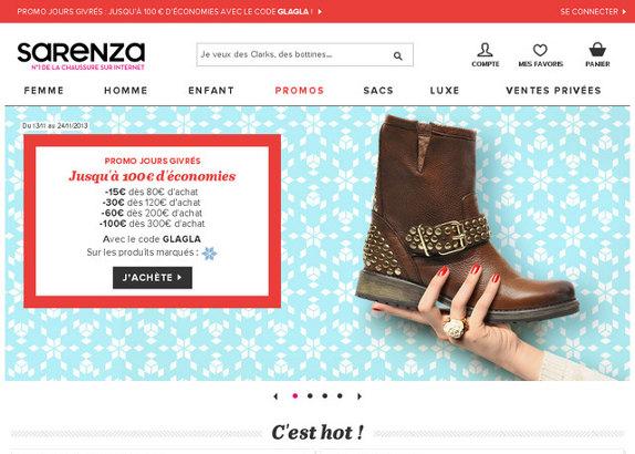 Sarenza, boutique de chaussures sur internet