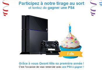 Concours Qwant pour gagner une PS4
