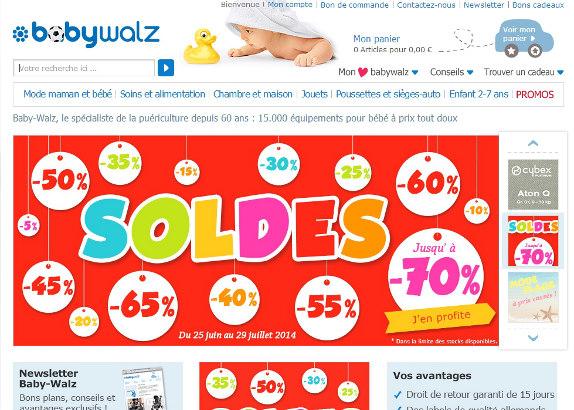 Baby-Walz : les soldes