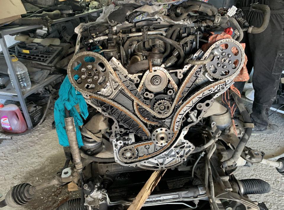 moteur avec chaîne de distribution