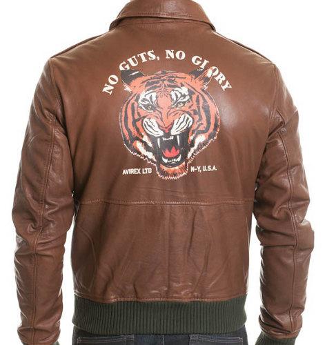 Blouson homme Avirex Chicago Tiger disponible chez Cuir City