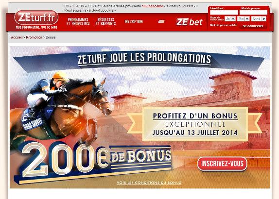 ZEturf joue les prolongations : 200€ de bonus offerts