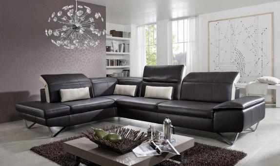 Canapé d'angle en cuir  - Seanroyale