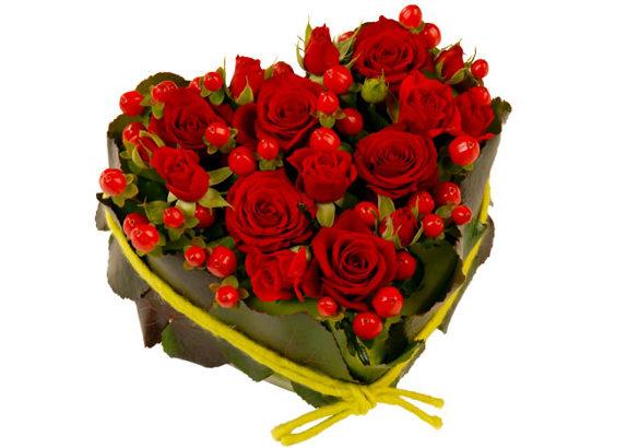 Livraison express de bouquets de fleurs Saint Valentin