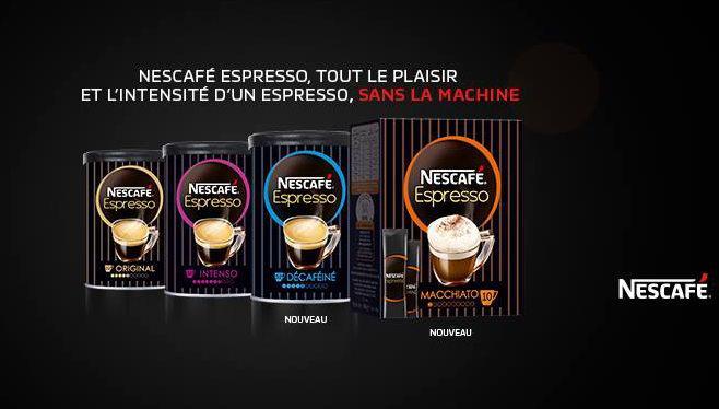 Echantillons gratuits de Nescafe Espresso