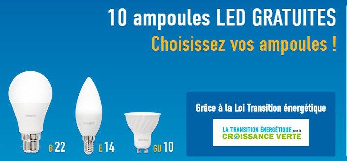 10 ampoules Led gratuites : un bon plan, pas une arnaque