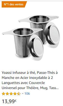 infuseur à thé ou tisane réutilisable