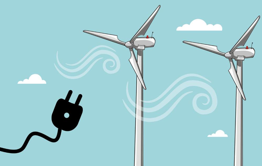 produire de l'électricité propre chez soi grâce au vent