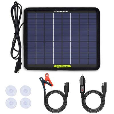 Panneau solaire pour recharger une batterie de véhicule