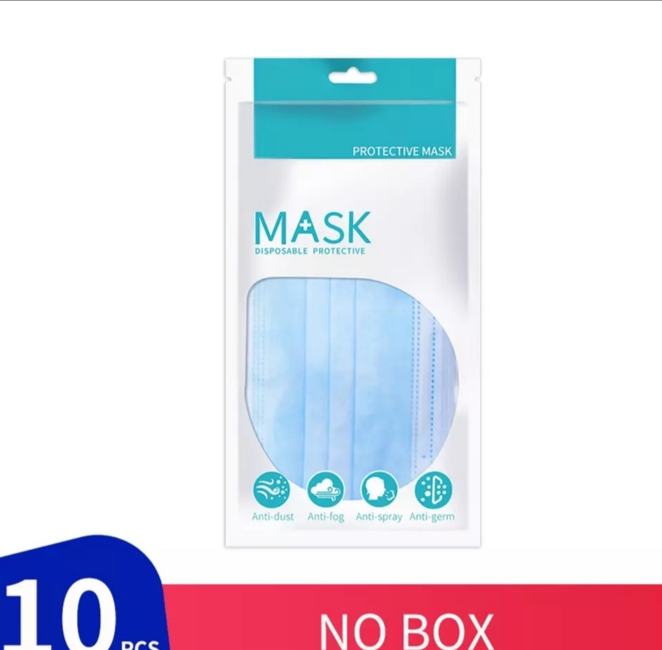 Lot de 10 masques chirurgicaux contre le coronavirus