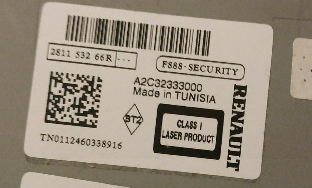 Code de sécurité autoradio Renault